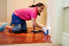 deep house cleaning baseboards